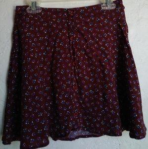 Lush floral mini skirt